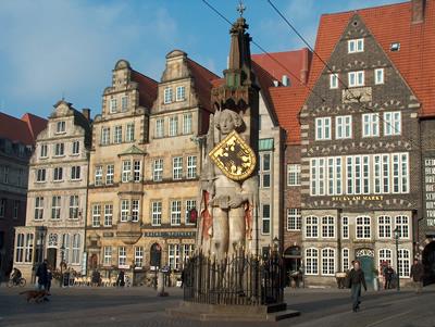 Bremen - Gevels van hedendaagse huizen ...